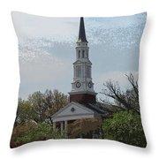 Memorial Chapel Far Throw Pillow