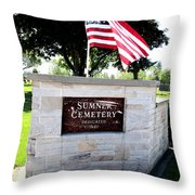 Memorial Day 2017 - Sumner W A Cemetery Throw Pillow