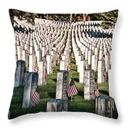 Memorial Day Throw Pillow by Barry C Donovan