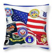Memorial Day Collage Throw Pillow