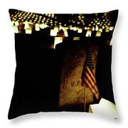 Memorial Day Luminary Throw Pillow