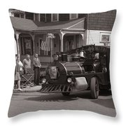 Memorial Day Parade  Ashley Pa  Corner Of W Hartford And Brown  Circa 1965 Throw Pillow