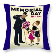 Memorial Day Poster Wpa Throw Pillow