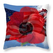 Memorial Day - Remembrance Day - Armistice Day Throw Pillow