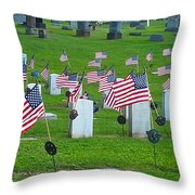 Memorial Day Salute Throw Pillow