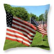 Memorial Day Tribute Throw Pillow