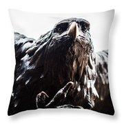 Memorial Eagle Throw Pillow