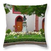 Memorial Of Jp Hebel At Peterskirche In Basel Switzerland Throw Pillow