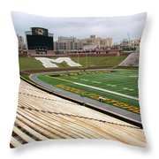 Memorial Stadium Throw Pillow