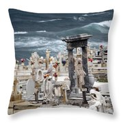 Memorials Washed Away Throw Pillow