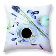 Memories And Coffee Throw Pillow