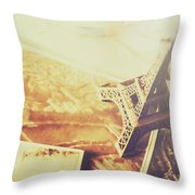 Memories And Mementoes Of Travelling France Throw Pillow