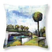 Memories From The Park Throw Pillow