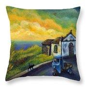 Memories Neath A Yellow Sky Throw Pillow