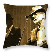 Memories Of Cohen Throw Pillow