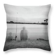 Memories Of Fishing Throw Pillow