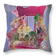 Memories Of Grandmother's Garden Throw Pillow