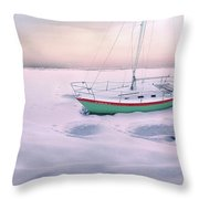 Memories Of Seasons Past - Prisoner Of Ice Throw Pillow