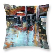Memories Of Venice Throw Pillow