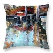 Memories Of Venice Throw Pillow