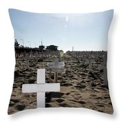Memories On The Beach Throw Pillow