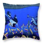 Memphis Blues Throw Pillow