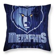 Memphis Grizzlies Barn Door Throw Pillow