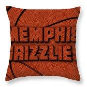 Memphis Grizzlies Leather Art Throw Pillow