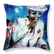 Memphis Music Legend William Bell On Stage 1 Throw Pillow