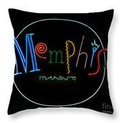 Memphis Neon Sign Throw Pillow
