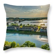 Memphis On The Mississippi Throw Pillow