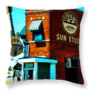 Memphis Sun Studio Birthplace Of Rock And Roll 20160215sketch Throw Pillow