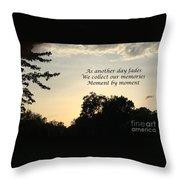 Memphis Sunset Haiku Throw Pillow by Leona Atkinson