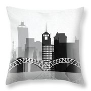 Memphis, Tennessee Skyline  Throw Pillow