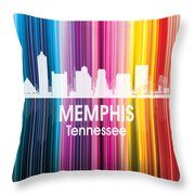 Memphis Tn 2 Squared Throw Pillow