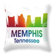 Memphis Tn Throw Pillow