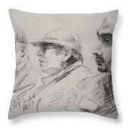 Men 3 Throw Pillow