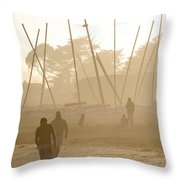 Men And Marina Throw Pillow
