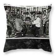 Men At Play Throw Pillow