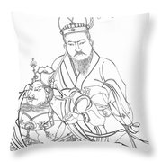 Men Of The East Throw Pillow
