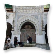 Men Performing Ablutions Prior Throw Pillow