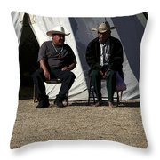 Men Talking Throw Pillow