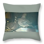 Menage E Trois Throw Pillow