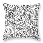 Menage Throw Pillow