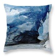 Mendenhall Glacier Face Throw Pillow