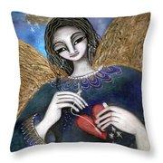 Mender Of Hearts Angel Throw Pillow by Prerna Poojara