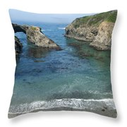 Mendicino County Viewpoint Throw Pillow