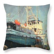 In Dry Dock Throw Pillow