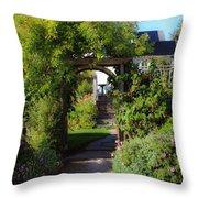 Mendocino Gate Throw Pillow