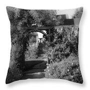 Mendocino Gate Bw Throw Pillow